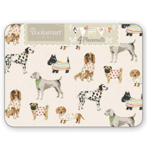 Breeds of Dog Table Placemats (4 Pack)